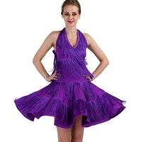 latin dance competition dresses women samba rumba tango latin dance dress latin dance fringe tassel yellow black lq086