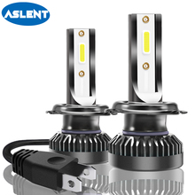 Aslent 2Pcs Mini Size 72W 8000lm H7 LED H11 H8 H9 H1 HB3 9005 HB4 9006 9012 Headlight Bulb Car Lamp Auto Light Fog Lights