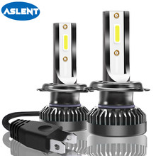 Aslent 2Pcs Mini Size 72W 8000lm H7 LED H11 H8 H9 H1 HB3 9005 HB4 9006 9012 LED Headlight Bulb Car Lamp Auto Light Fog Lights(China)