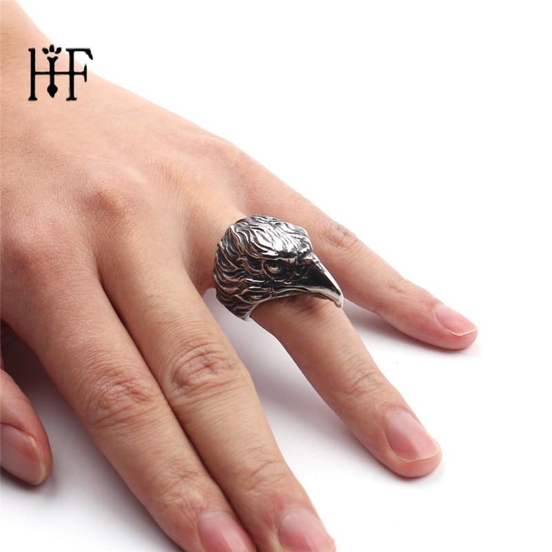 Steampunk կենդանիներ Ring արծվի հեծանվորդ օղակ Նորաձև զարդեր եզակի մատանի համար տղամարդու հնաոճ իրեր Silverl Plating Ring Ring կանանց համար նվեր