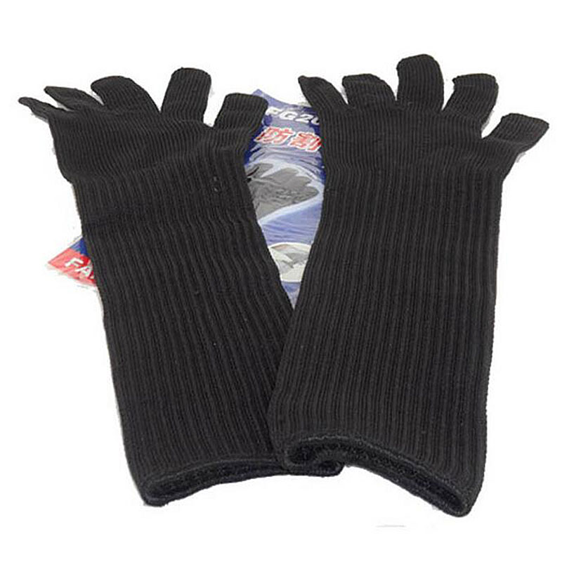 Long Cut Resistant Working Sleeve Gloves With Stainless Steel Wire Protective Safety Gloves Metal Tactical Butcher Steel Gloves 1pcs safety gloves cut proof stab resistant stainless steel wire metal mesh butcher anti knife
