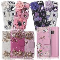 Xingduo leuke bling crystal rhinestone diamond luxe lederen flip case wallet cover voor iphone 5 5 s se