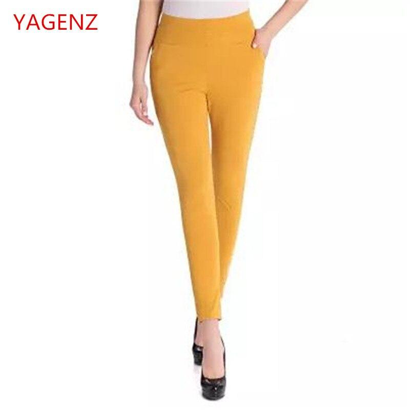 5e2bd2be4d73 Alta qualità delle Donne Più Il formato abbigliamento donna vita Alta  elastico pantaloni Donna pantaloni casual