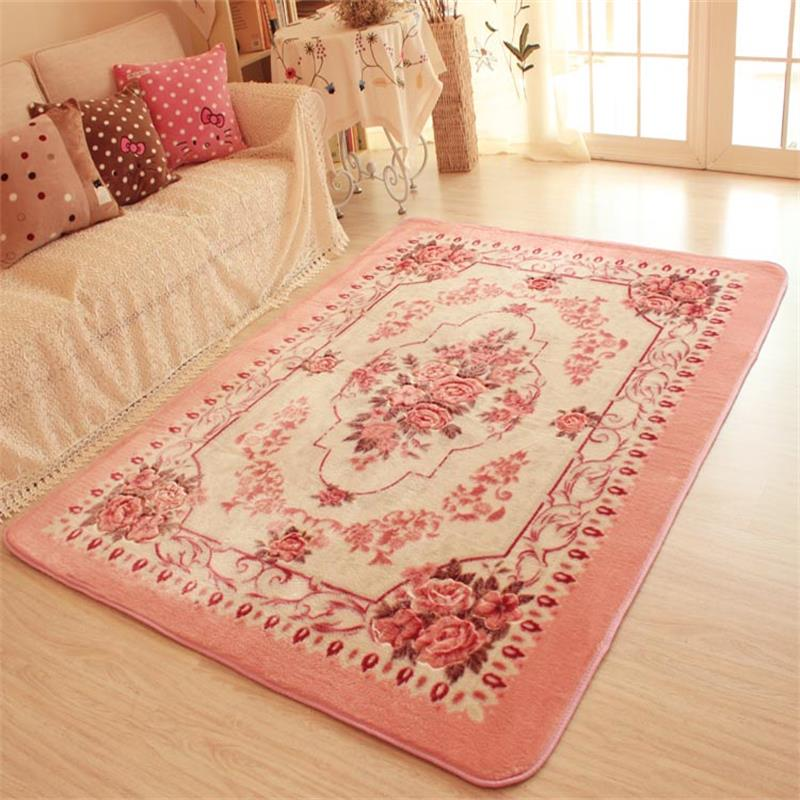 150X200CM Big Carpets For Living Room Pink Flower Bedroom Rugs And ...