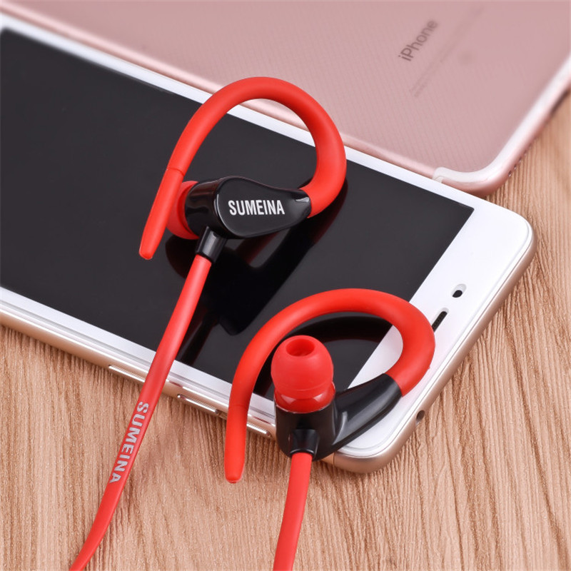 Image 5 - Mambaman SMN 11 Earphones Headphone 3.5mm Stereo Earhook Bass Sound Headset for Running Sport for Xiaomi Samsung iPhone Computer-in Phone Earphones & Headphones from Consumer Electronics
