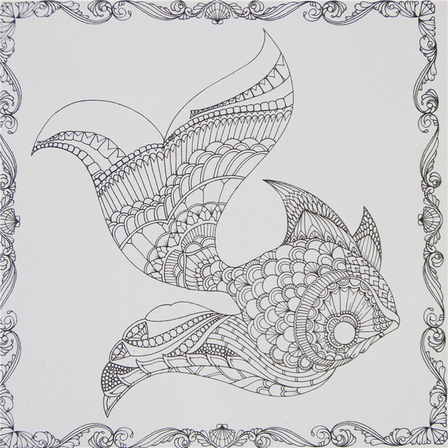 Online Shop 1 Pcs 24 Pages Lost Ocean Inky Adventure Coloring Book