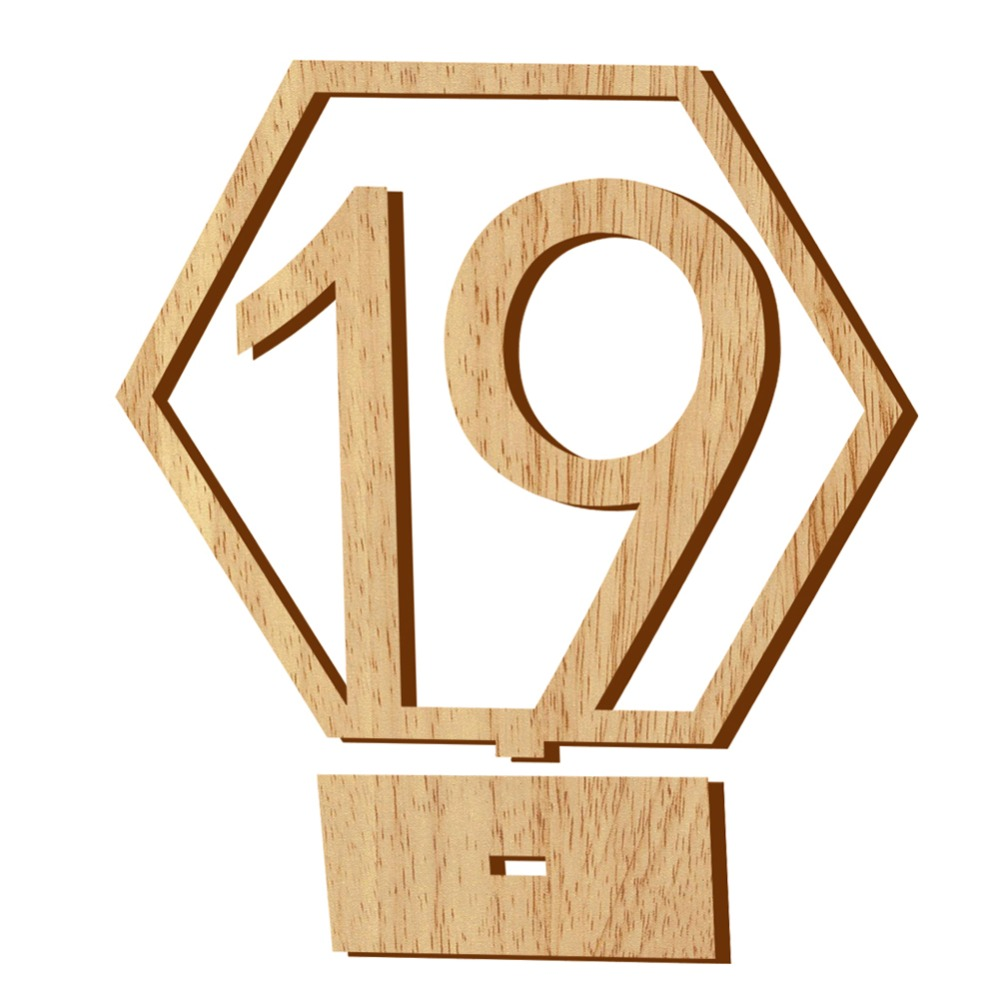 Simple Numbers Wood Signs Wedding Hexagon Table Number Wooden Table Numbers Rustic Wedding Engagement Seat Numbers Sign 1-20