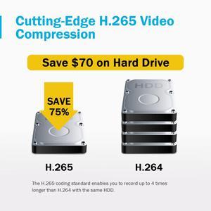 Image 3 - ANNKE 8CH 8MP Ultra HD PoE רשת וידאו אבטחת מערכת 4K H.265 מעקב NVR 4x8MP HD IP67 POE CCTV Bullet מצלמות