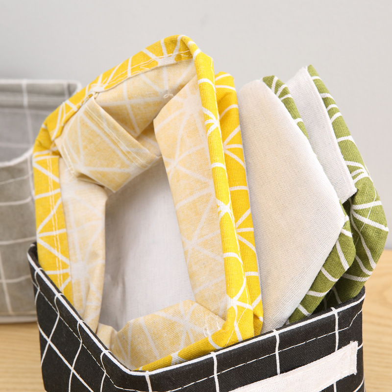 Foldable Desktop Storage Basket Creative Bin Closet Toy Box Container Organizer Fabric Organizer Container Box Laundry Basket (6)
