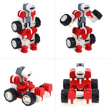 1 Pcs Building Blocks Kids CarsToys for Children Montessori Transformation Robot Educational Learning Intelligence Cool Gifts(China)
