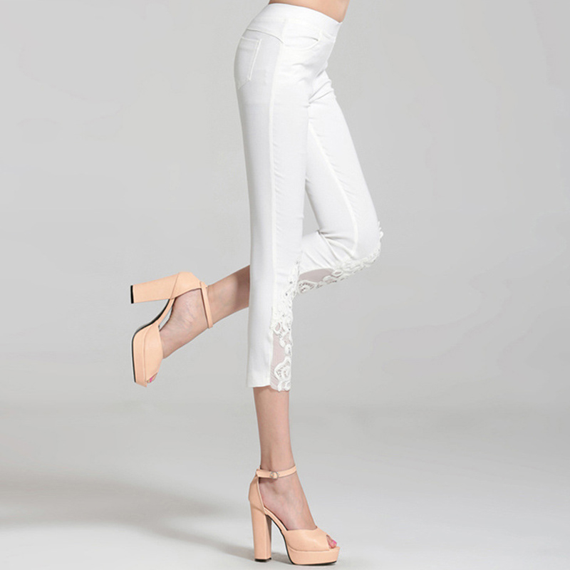 1a7d44df17489 2018 Summer Style Candy Color Stretch Capris Pants Women Thin Summer Pants  Ladies High Waist Elastic Plus Size S 4XL Pants CS24-in Pants   Capris from  ...