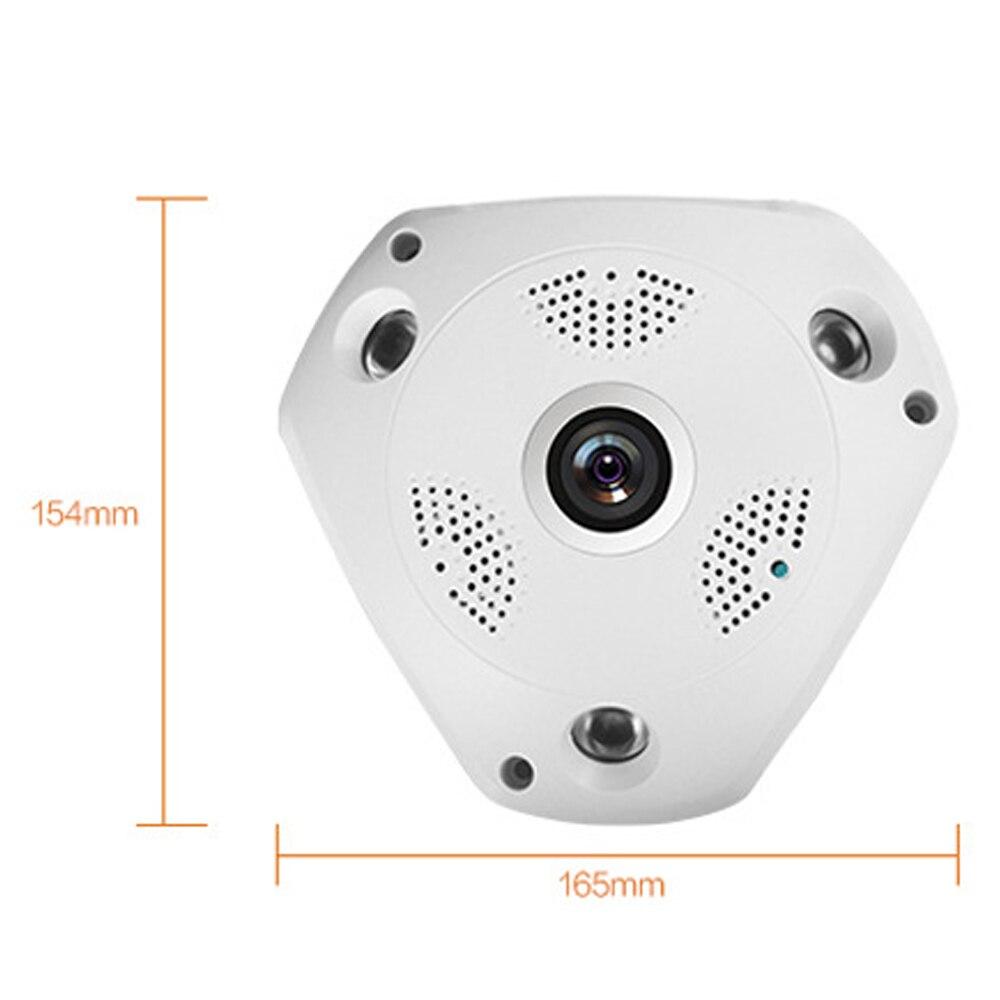 3mp рыбий глаз панорамная Ip камера VR Cam Smart 360 градусов беспроводной детектор движения 128 ГБ бортовой записи, IR 35ft Smart App - 3