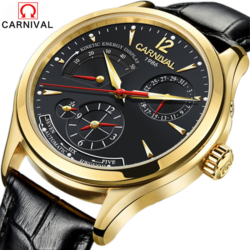 Mens watches mechanical watch dive 50m six-pin tourbillon clock leather business relojes hombre 2017 top brand luxury CARNIVAL alike 2015 50m relojes 14109