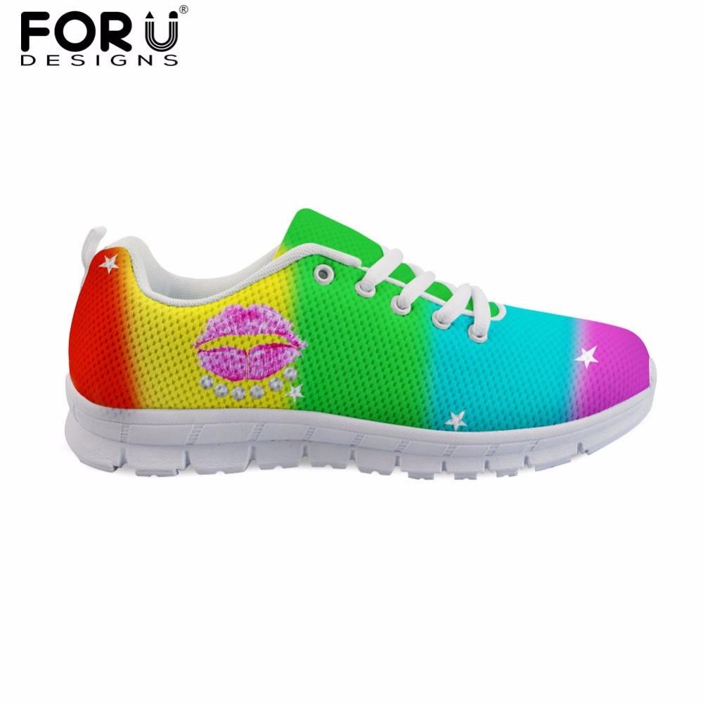 Pour Aq Confortable Printemps en Forudesigns Femmes Zapatos Chaussures Plates Custom Appartements Lip cc6048aq Mujer Occasionnels cc6042aq couleur Arc Sexy Imprimer Dame 3d 7CHC6qWw