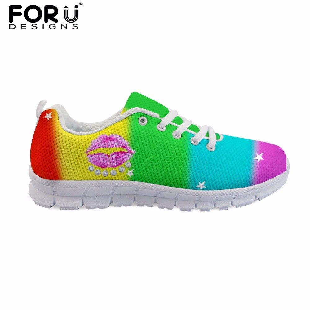 Confortable 3d Pour Forudesigns Appartements cc6048aq cc6042aq couleur Lip Arc Chaussures Plates Mujer Imprimer Femmes Dame Printemps Occasionnels Aq en Custom Zapatos Sexy xw7d6x0rq
