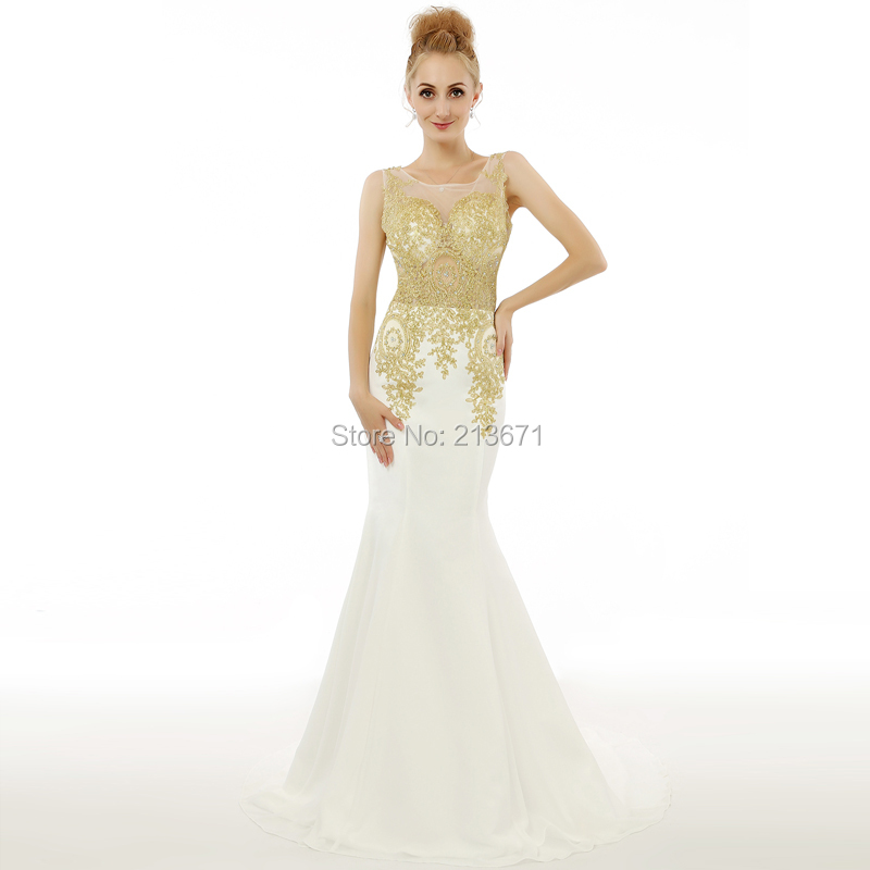 White Gold Mermaid Dress_Other dresses_dressesss