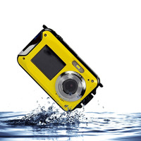 Double Screens Waterproof Digital Camera 2 7 With Microphone HD Video Face Detection Digital Camera Anti