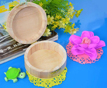 Round Wooden Box Gift High-grade Festival Party Supplies