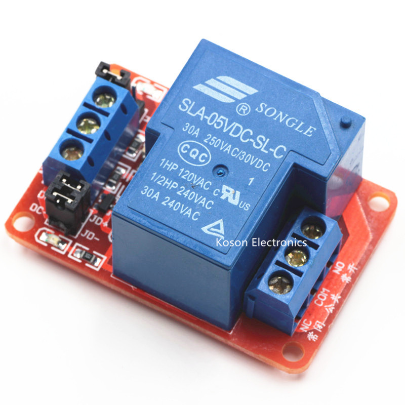 5V 30A 1-Channel Relay Module with Optocoupler H/L Level Triger for Arduino