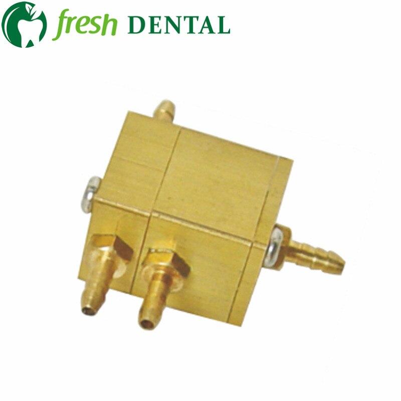 10 piezas de silla Dental unidad de aire de la válvula de Control de agua cuadrada de la válvula de control de 3mm cobre conectores materiales dentales SL1214-in Blanqueamiento dental from Belleza y salud    1