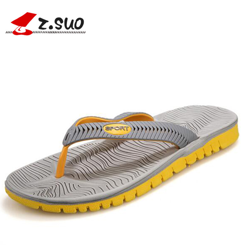 Cheap Summer Men Flip Flops Bathroom Slippers Men Casual PVC EVA Shoes Fashion Summer Beach Sandals Size 40~45 zapatos hombre(China)