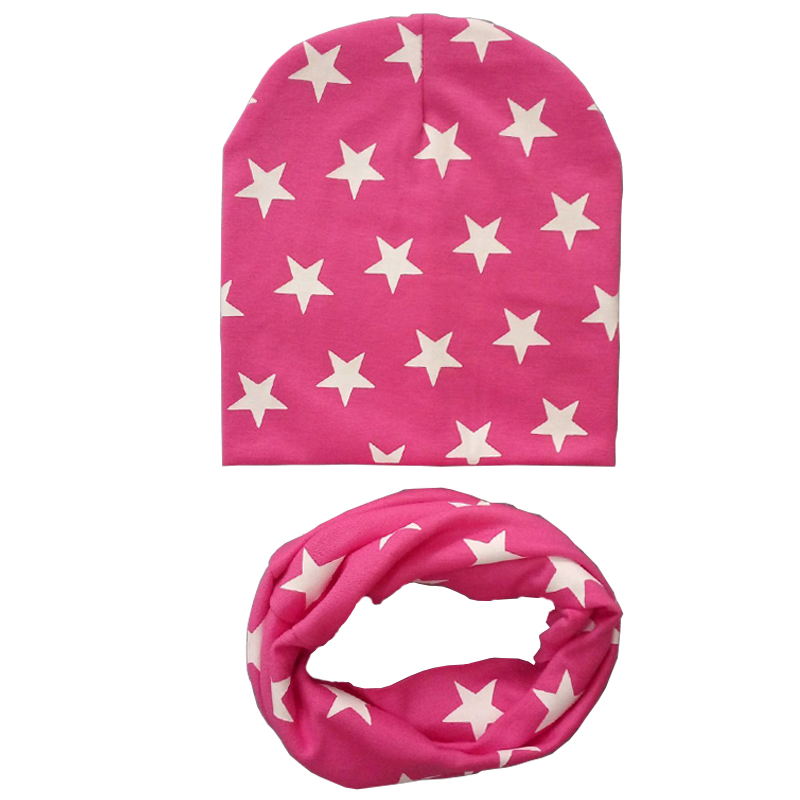 Children warm autumn and winter scarves baby Little Star bib hat New boy girl beanies caps baby hat infant little star head cap