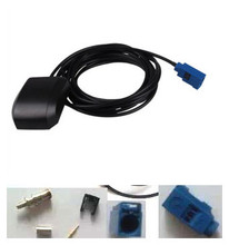 Blue color Fakra GPS antenna Car Active GPS Antenna External GPS antenna with 3m Meters cables