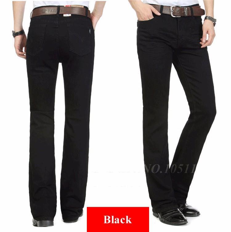 Fashion Winter Warm Mens Black Thicken Velvet Boot Cuts Casual Jeans Men Skinny Flared Jeans Bell Bottom Fleece Jeans 3Xl 4Xl 36 9