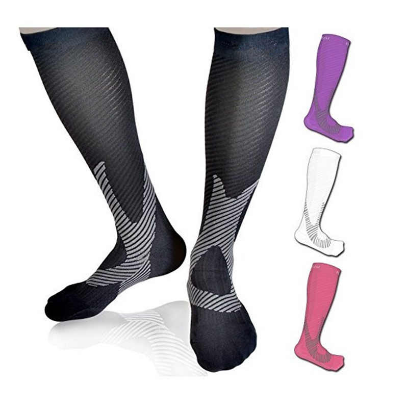 SUPER ELITE Sports Socks Cycling Football Leggings Running Pressure Compression Male Female Outdoor Long Tube Knee Shaping Soft