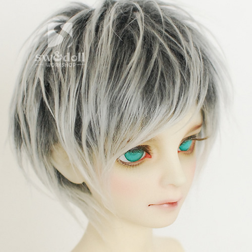 New 9-10CM .14CM .13CM. 18-19CM. 11-12CM. Silver grey BJD Doll Fur Wig for BJD 1/3 1/4 1/6 1/8 1/12 Full HH29 8 9 bjd wig silver knights of england volume mohair wig spot