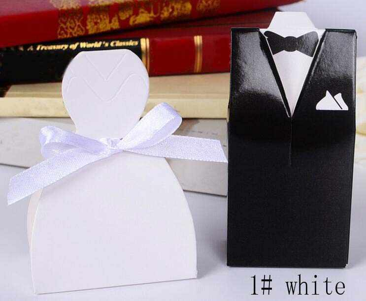 Festival Supplies Putih Hitam Bunga Sesuai Gaun Permen Cokelat Kotak Hadiah untuk Ulang Tahun Pernikahan Dekorasi WH