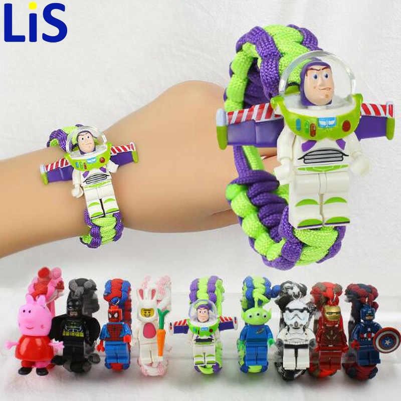 История игрушек 4 Buzz Lightyear браслет Мстители эндгейм Железный человек Капитан Америка строительный блок браслет активированный Kinderen Gif