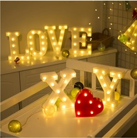 22cm Marquee Plastic Letter LED Wall Art AAA Battery Operated Lighted Polymers Letters A Z Numbers