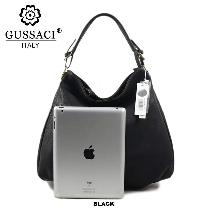 4978e21ef7 Free Shipping GUSSACI Brand New Fashion Top Grade Women Girls Tote Shoulder  Bag Big Bag PU Leather Black White Good Gift13C042 2-in Shoulder Bags from  ...