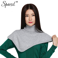 Sparsil Women Cashmere Blend Ring Scarves Solid Colors Autumn Winter Soft Turtleneck Scarf All Match
