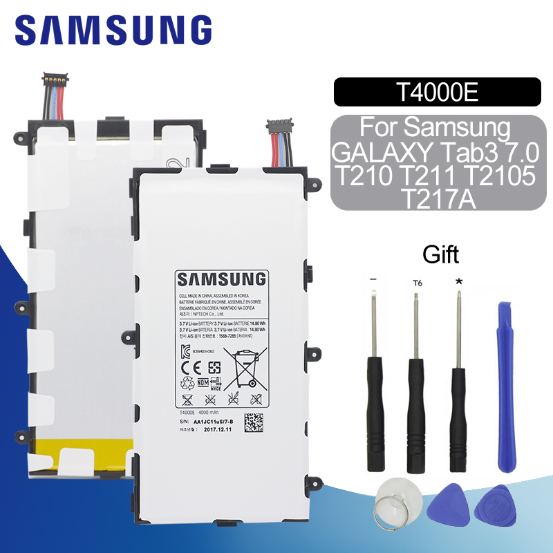 Original Battery For SAMSUNG <font><b>T4000E</b></font> 4000mAh For Samsung Galaxy Tab3 7.0 T210 T211 T2105 T217a SM-T210 Replacement Tablet Battery image