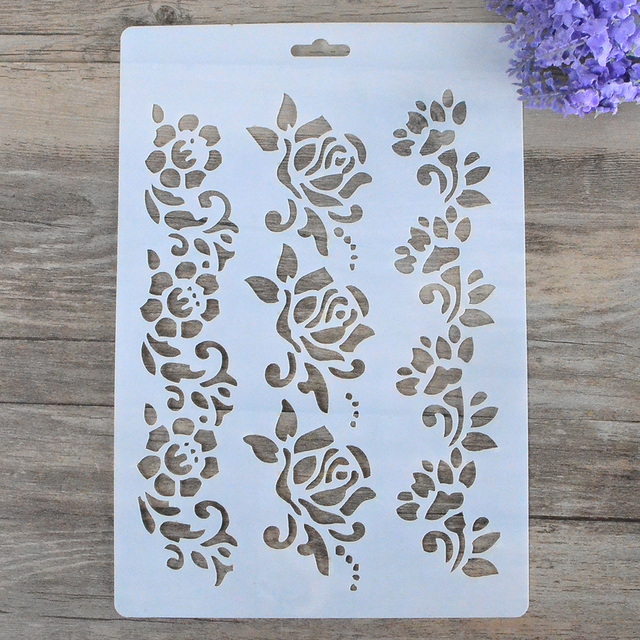 diy craft flower layering stencils for walls painting scrapbooking