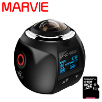 MARVIE 3D Waterproof Sport Driving VR Camera 4K 360 Degree Action Video Camera Wifi Mini 2448