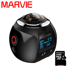 MARVIE 3D Waterproof Sport Driving VR Camera 4K 360 Degree Action Video Camera Wifi Mini 2448*2448 16MP Ultra HD Panorama Camera