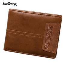 Fashion Genuine Leather Men Wallets Famous Brand short Wallet With Coin Pocket designer vintage Purse Card Holder For Men все цены