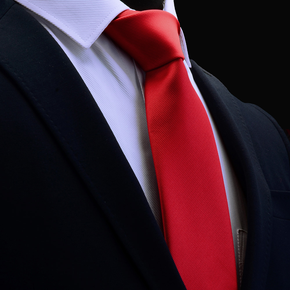 Ricnais New Arrival Classic Mens Tie Silk 8cm Formal Necktie Solid Gold Red Yellow Ties For Man Business Wedding Gift Party
