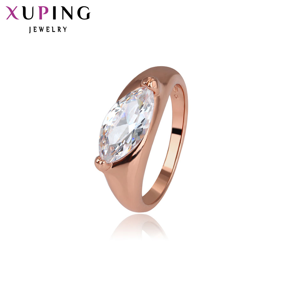 Xuping Fashion Ring Special Design Rings Women High Quality Gold Color Plated Synthetic CZ Jewelry Charm Christmas Gift 13064