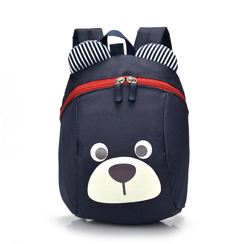 Baby Backpack Toddler Anti Lost Backpack Lovely Bear Cartoon Wrist Link Children Schoolbag Walking Leashes Bag