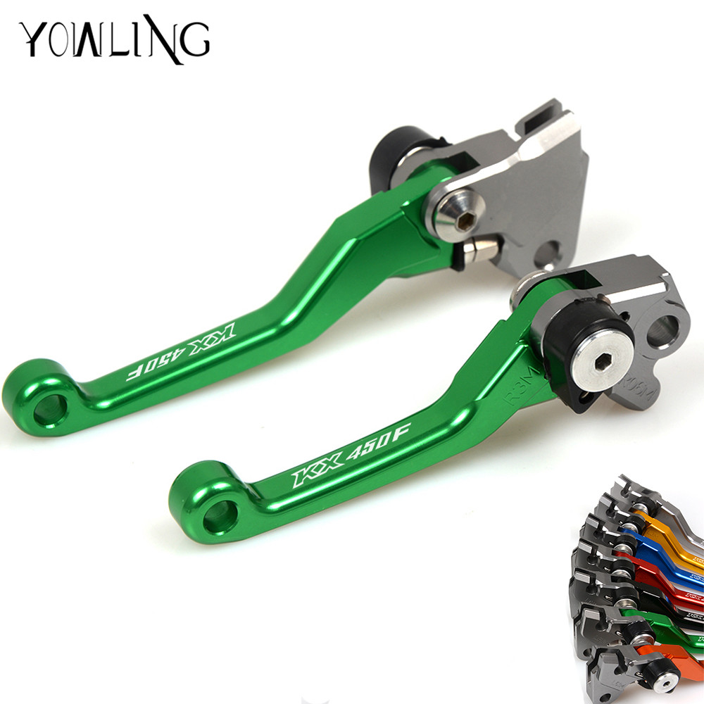 motorcylcle Pivot Dirtt bike Brake Clutch Levers For KAWASAKI KX450F KX 450F 2006 2007 2008 2009 2010 2011 2012 2013 2014 2015 for kawasaki zx10r 2006 2015 2007 2008 2009 2010 2011 2012 2013 2014 red