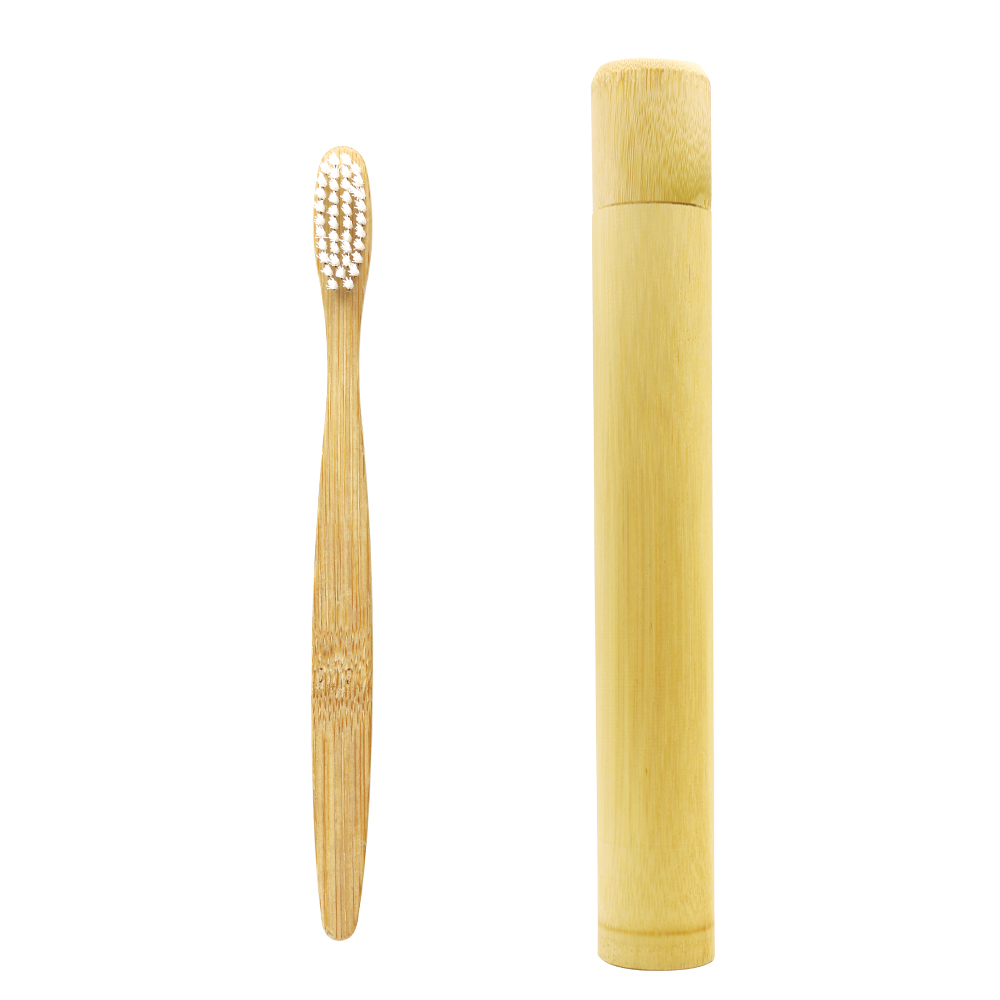 DR.PERFECT 1 pc/Bamboo Tube Charcoal Toothbrush Natural Fiber Ultra Soft Bamboo Charcoal Brush Teeth Cleaning BPA Free Nylon soft fiber toothbrush shape liquid foundation brush