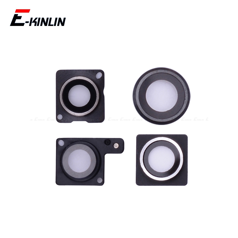 High Quality Rear Back Camera Glass Lens Cap Seal Bracket Ring Frame Holder For iPhone 4 4S 5 5S SE 5C 6 6S Plus image