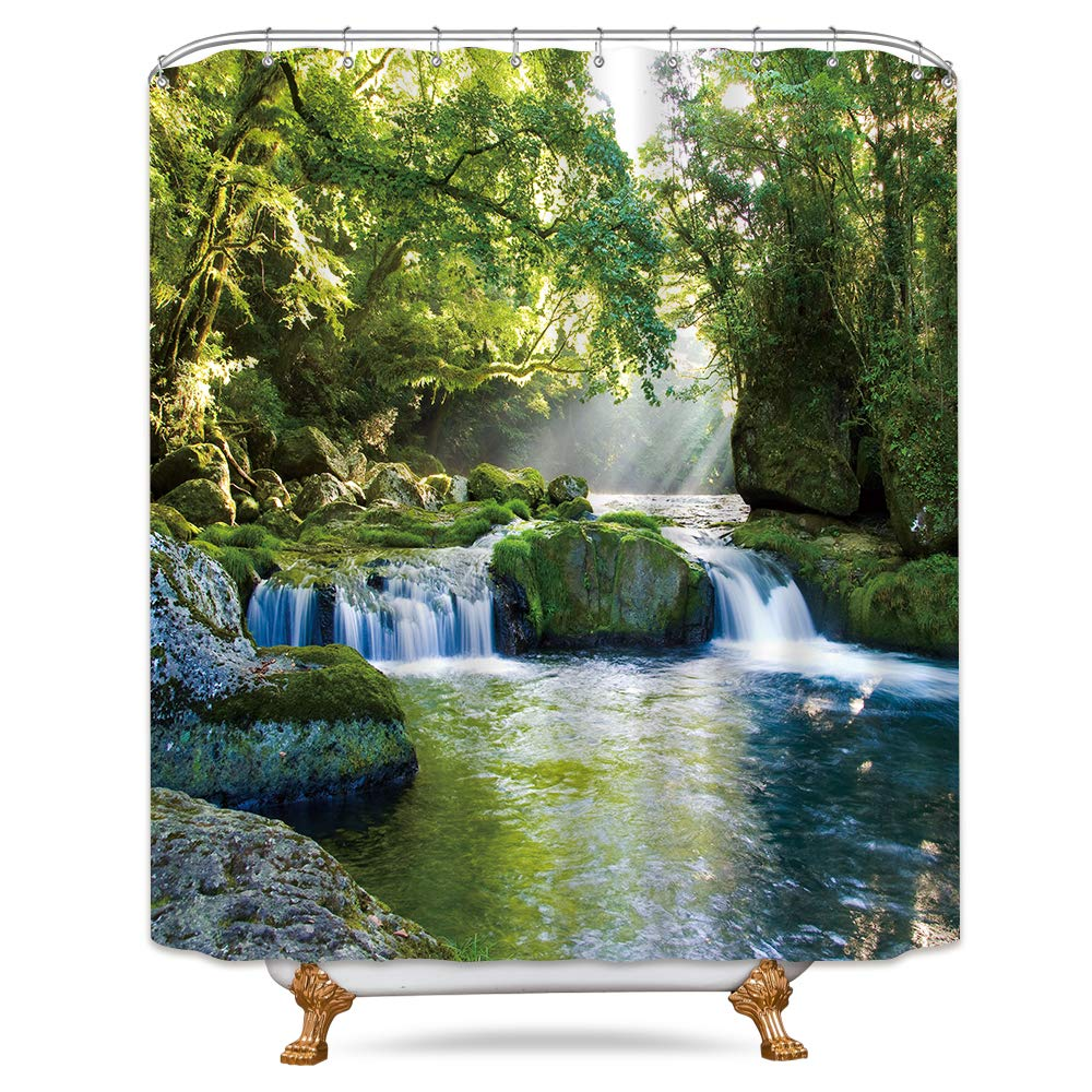 Jungle Shower Curtain Rainforest in Thailand Print for Bathroom