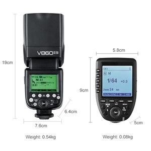 Image 3 - Godox V860II N 2.4 グラム HSS 1/8000 s ワイヤレス i TTL II リチウムオンカメラのフラッシュスピードライト + Xpro N ワイヤレス送信機ニコン