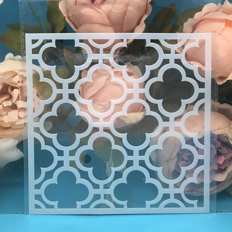 15cm Clover Square DIY Layering Stencils Wall Painting Scrapbook Coloring Embossing Album Decorative Paper Card Template