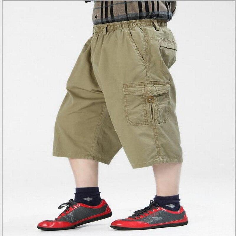 ea97d60f510 VXO men cargo pants man calf Length pants Slacks pants casual pants plus fat  to increase